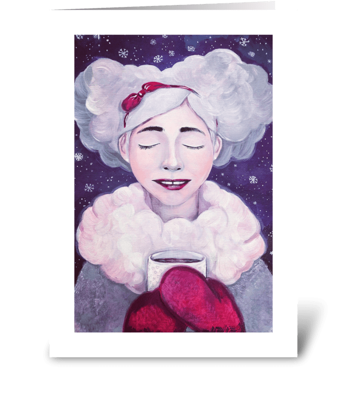 Dreaming of Christmas greeting card