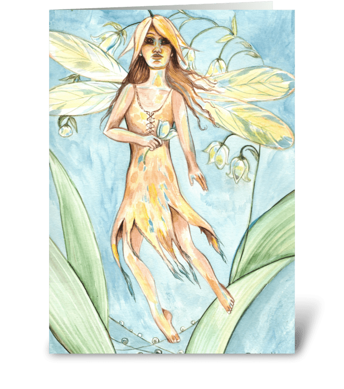 The Morning Fairy greeting card