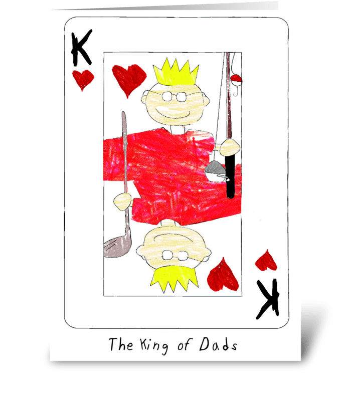 king of dads greeting card