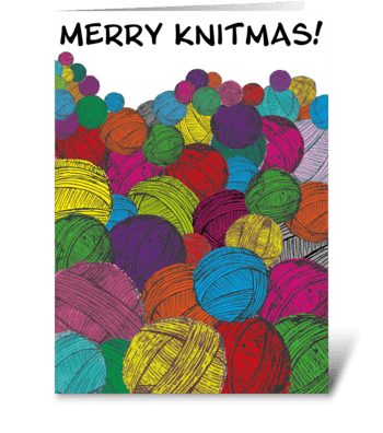 90 Merry Knitmas - Card for Knitters! greeting card