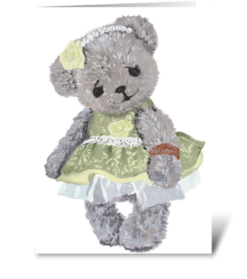Сute Teddy bear greeting card
