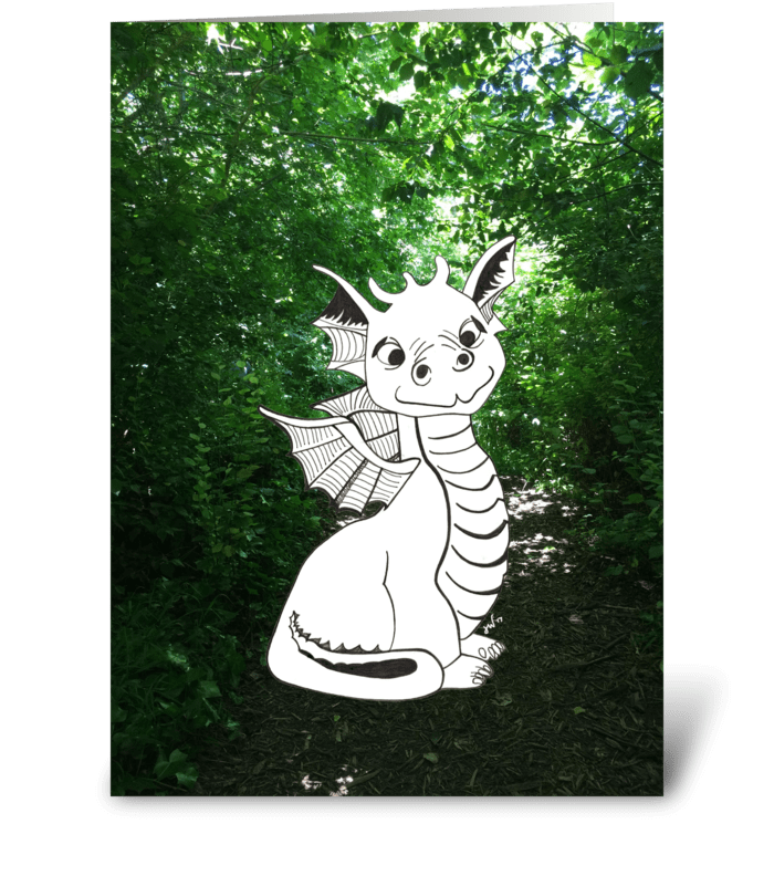 Happy Birthday from Baby Dragon greeting card