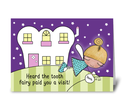 Congratulations Losing 1st Tooth-Fairy greeting card