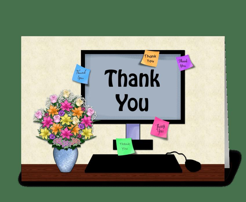 Thank You, Desktop, Administrative Prof greeting card