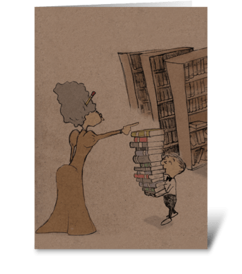 At the Library greeting card