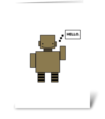 Robot Hello greeting card
