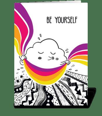 Cute inspiring cloud  greeting card
