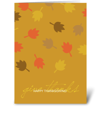 Serene Thanksgiving greeting card