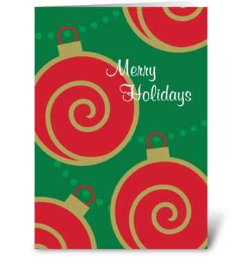 Ornaments with Swirls greeting card