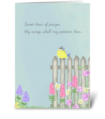 Sweet Prayer of Prayer greeting card
