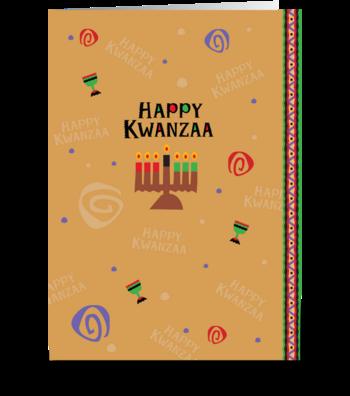 Happy Kwanzaa Celebration greeting card