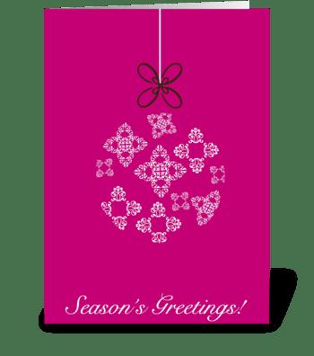 Bombita de Navidad greeting card