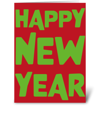 19 New Year card greeting card