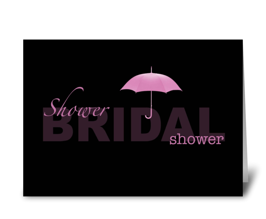 Bridal Shower - black and pink greeting card