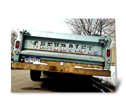 Colorado Chevrolet greeting card