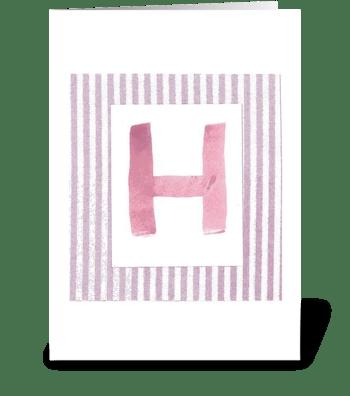 H - Baby Girl greeting card