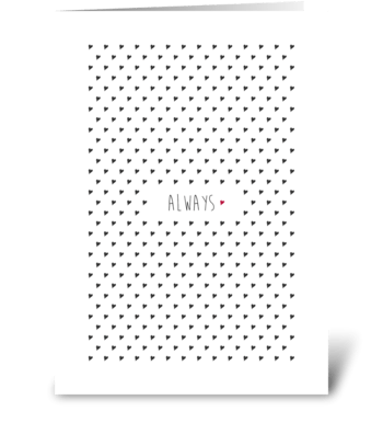 polka dot heart greeting card
