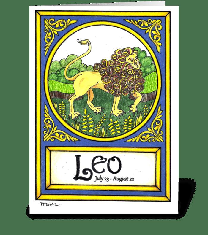 LEO greeting card
