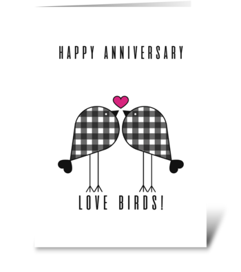 Happy Anniversary Tweet Love Brids greeting card