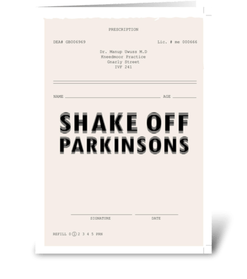 Parkinsons * Inspiration-ill greeting card
