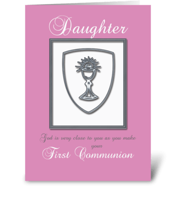 Daughter First Communion greeting card