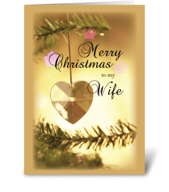 Merry Christmas To My Wife greeting card