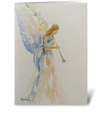 Heralding Angel: Peace On Earth greeting card