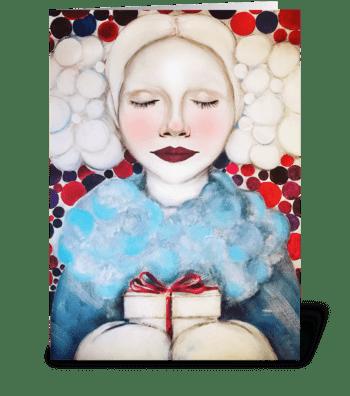 Christmas present for you greeting card