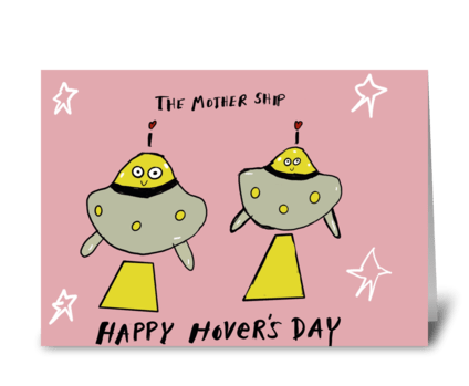 The Mother Ship greeting card