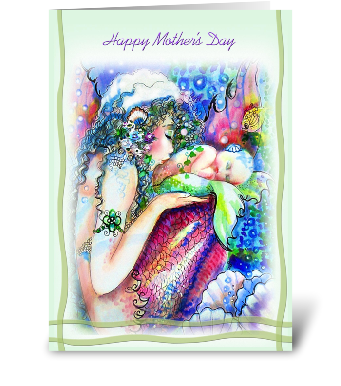 Happy Mother's Day, Mermaids greeting card
