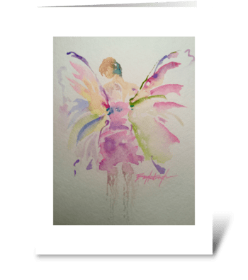 On Butterfly Wings greeting card