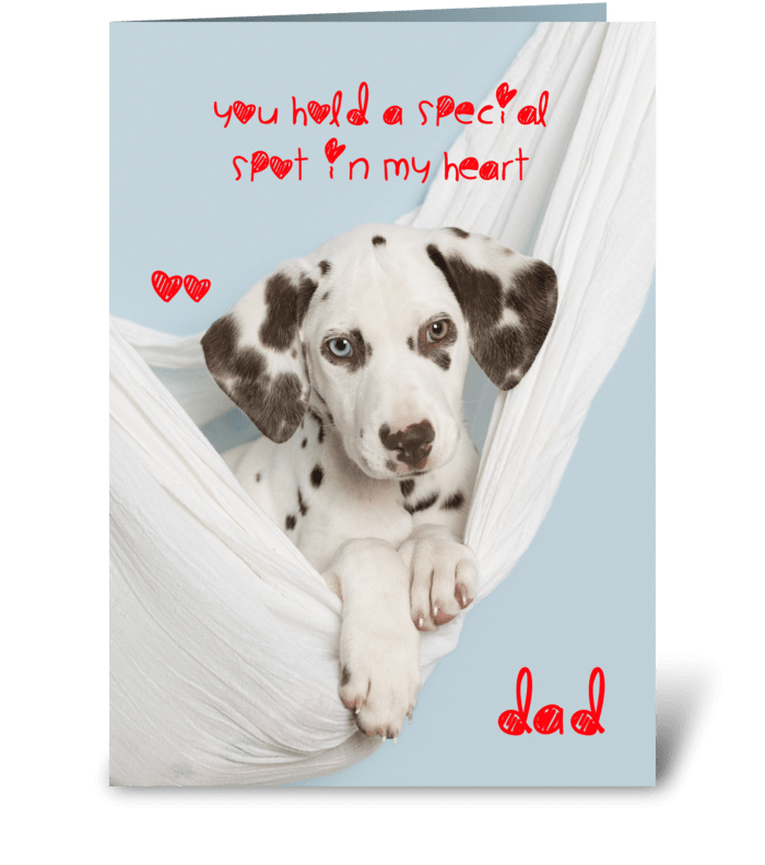For Special Dad Dalmatian Card greeting card