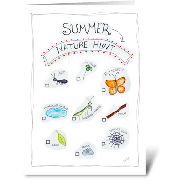 Summer Nature Hunt greeting card