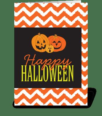 Halloween Pumpkins greeting card