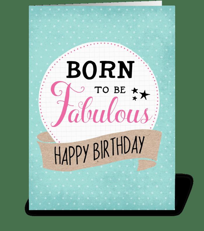 Fabulous Birthday greeting card