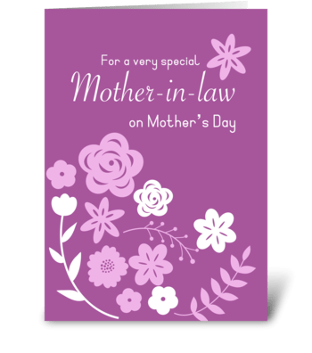 Mother-in-law love greeting card