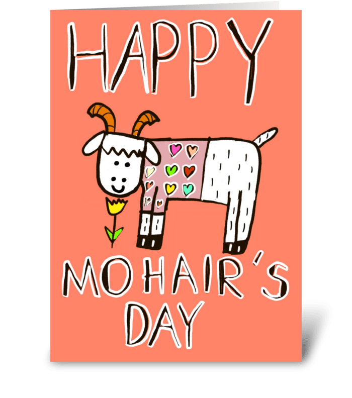 Happy Mohair's Day greeting card
