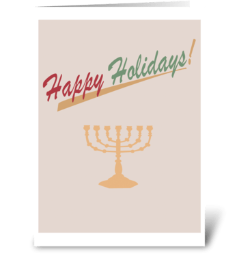 Holiday Menorah greeting card