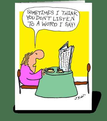 Word I Say greeting card