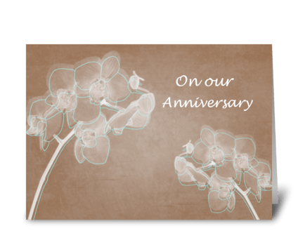 Elegant Orchids greeting card