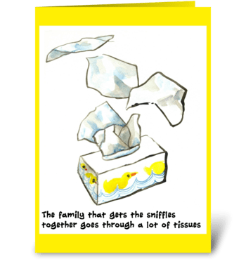 Family get well card greeting card