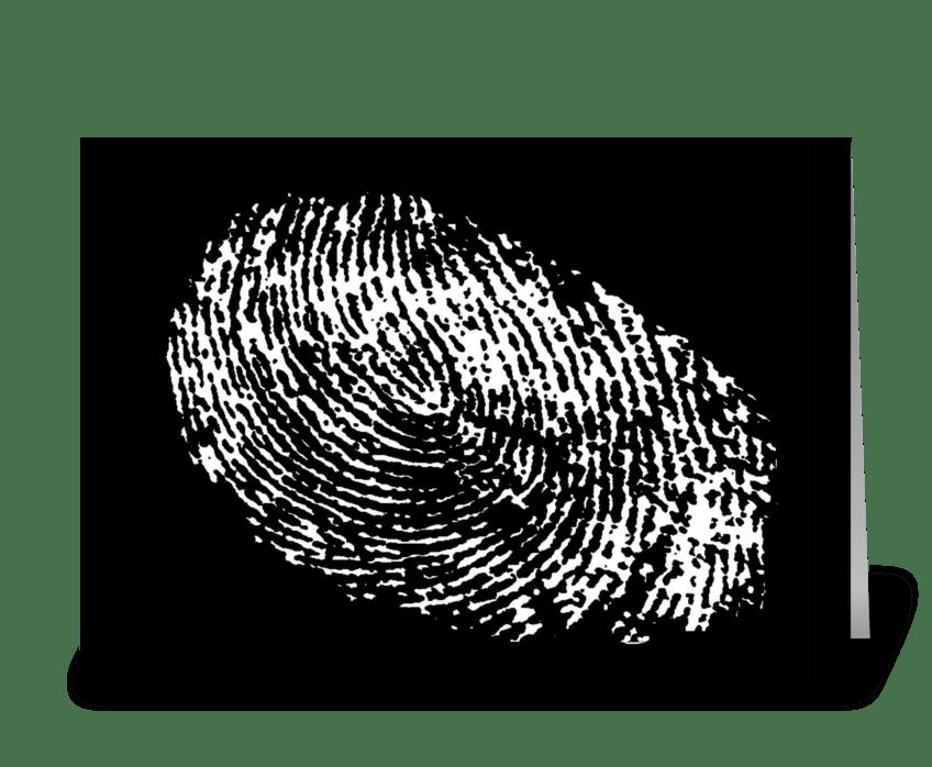 Fingerprint Birthday Card greeting card