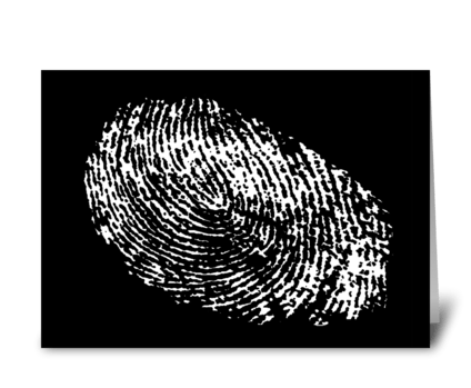 Fingerprint Birthday Card greeting card