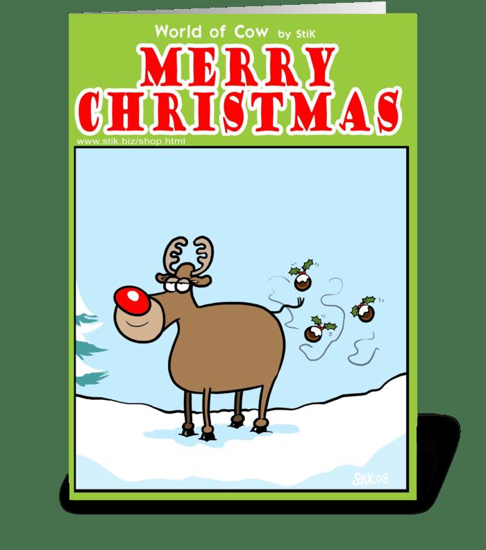 Reindeer Flies greeting card