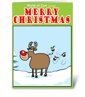 Reindeer Flies greeting card