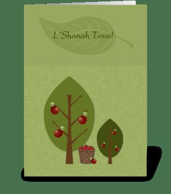 Rosh Hashanah Apple Trees  greeting card
