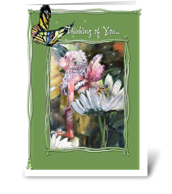 Thinking of You, Faery, Butterfly greeting card