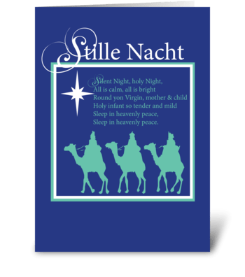 Stille Nacht Christmas Silent Night greeting card