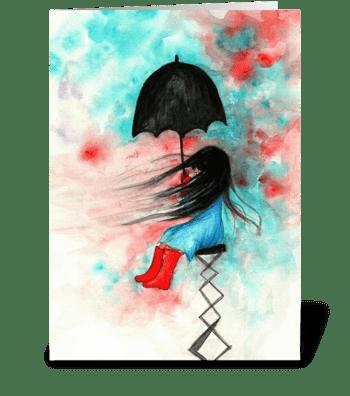 Always Bring an Umbrella greeting card