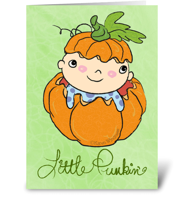 Little Punkin' greeting card